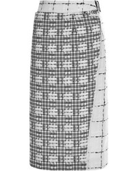 Paneled tweed and re embroidered lace skirt medium 50009