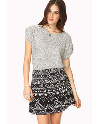 Forever 21 Day Trip Abstract Mini Skirt