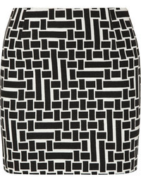 Tibi Printed Jersey Crepe Mini Skirt