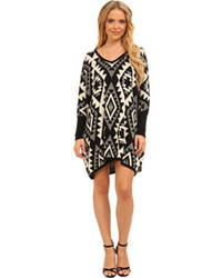 Brigitte Bailey Tiffany Oversized Aztek Sweater Dress