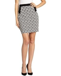 Romeo juliet couture black and white geometric pencil skirt medium 94941