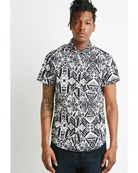 21men 21 Abstract Geo Print Shirt