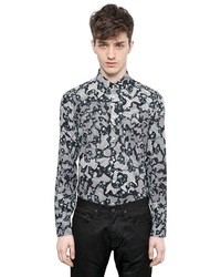 Kenzo Palm Printed Cotton Poplin Shirt