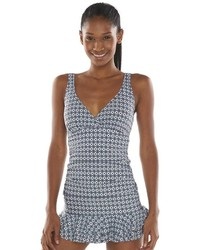 Apt. 9 Geometric Ruched Swimdress