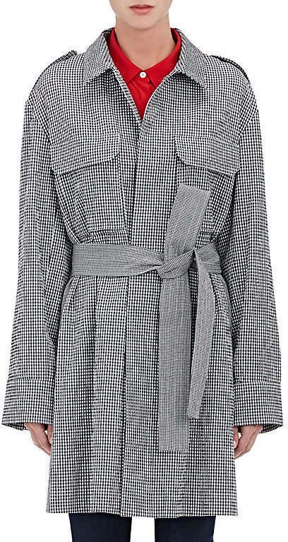 Gauchere Gingham Seersucker Trench Coat
