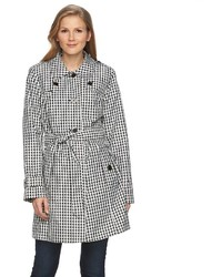 Towne By London Fog Gingham Trench Coat