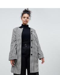 Helene Berman Plus Trumpet Sleeve Collarless Coat