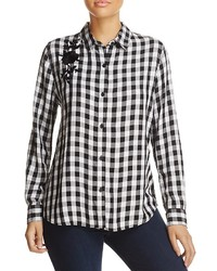 Beachlunchlounge embroidered gingham shirt medium 6837657