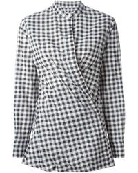 Dondup Gingham Wrap Style Shirt