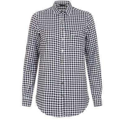 New Look Monochrome Gingham Long Sleeve Shirt