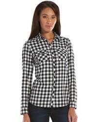 croft & barrow Print Flannel Shirt