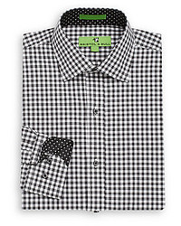 Regular Fit Gingham Print Cotton Dress Shirt