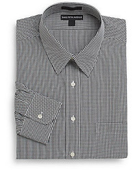 Regular fit mini check cotton dress shirt medium 344436