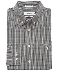 Calvin Klein Slim Fit Mini Check Gingham Sportshirt
