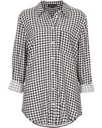 Topshop Tall Gingham Check Shirt