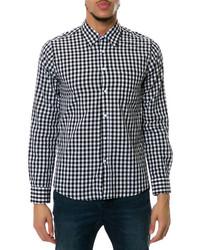 Filthy Etiquette The Harper Shirt In Blackwhite