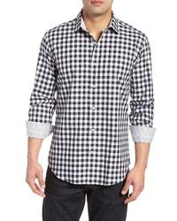 Bugatchi Shaped Fit Gingham Check Sport Shirt