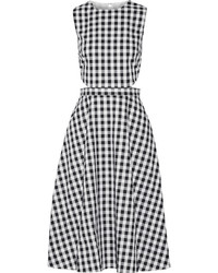 Monica cutout gingham cotton midi dress medium 961879