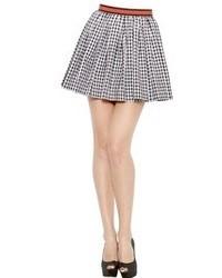 Checked Cotton Poplin Skirt