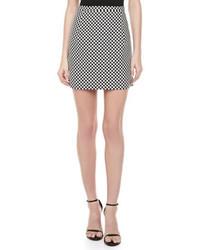White and Black Gingham Mini Skirts for Women | Women's Fashion
