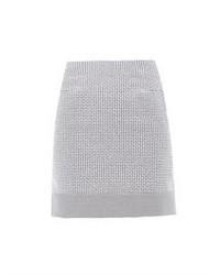 Micro check cotton blend skirt medium 43959