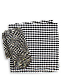 Original Penguin Fillmore Plaid Tie Gingham Pocket Square Set