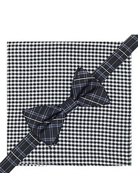jcpenney Stafford Pre Tied Plaid Bow Tie Gingham Pocket Square Set