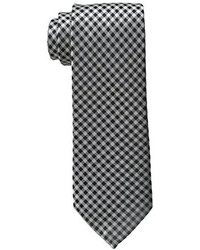White and Black Gingham Tie