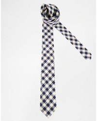 Asos Brand Tie With Gingham Check