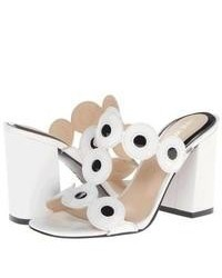 White and black heeled sandals original 3180201