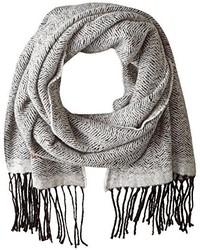 Armani Jeans J1 Wool Blend Herringbone Scarf