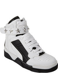 White and Black High Top Sneakers