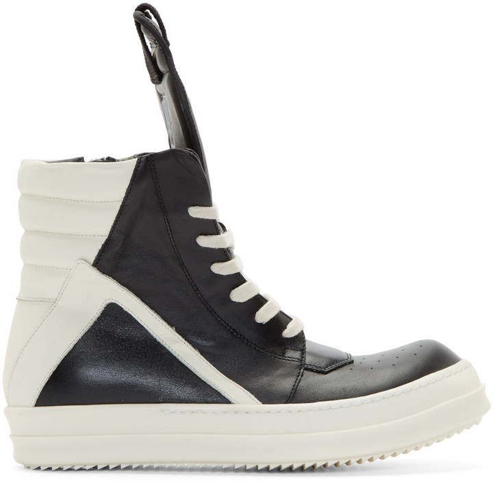 Black high sneaker Rick Owens Latest Cheap Price mEo4eDrX