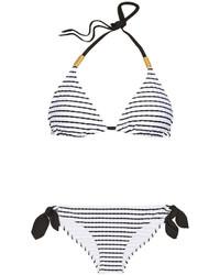 Heidi Klein Cap Dail Striped Triangle Bikini