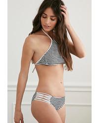 Forever 21 Strappy Stripe Print Bikini Bottoms