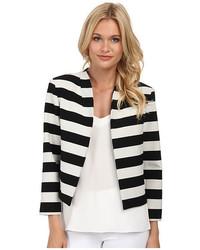 Nicole Miller Bold Stripe Cropped Jacket