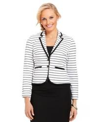 Debbie Morgan Petite Striped Blazer