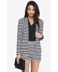 Express 24 Inch Horizontal Stripe Knit Blazer