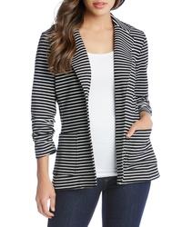 Karen Kane Stripe Shirred Sleeve Jacket