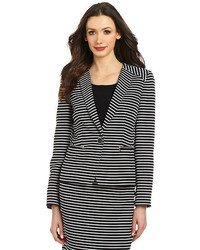 Kasper Striped Jacquard Blazer