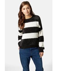 Shaggy stripe sweater medium 186512