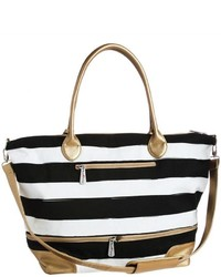 Blossom boutique striped tote bag medium 3674447