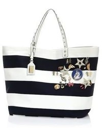 Striped canvas tote medium 3670075