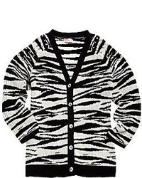 Design History Girls Studded Zebra Cardigan