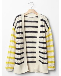 Gap Stripe Open Cardigan