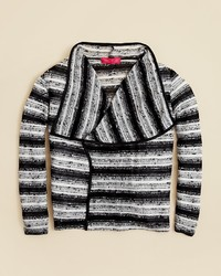 Menu U Girls Stripe Loose Knit Cardigan Sizes Xs Xl