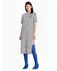 Calvin Klein Cotton Knit Striped C Badge Dress