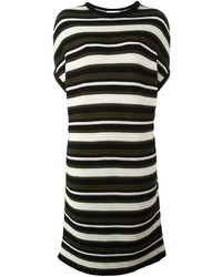 Gianluca Capannolo Striped Knitted T Shirt Dress