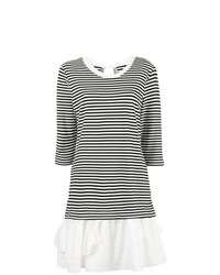Boutique Moschino Striped Ruffle Hem Dress