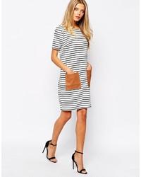 fe6bbd1402 ... Vila Striped T Shirt Dress With Patch Pocket ...
